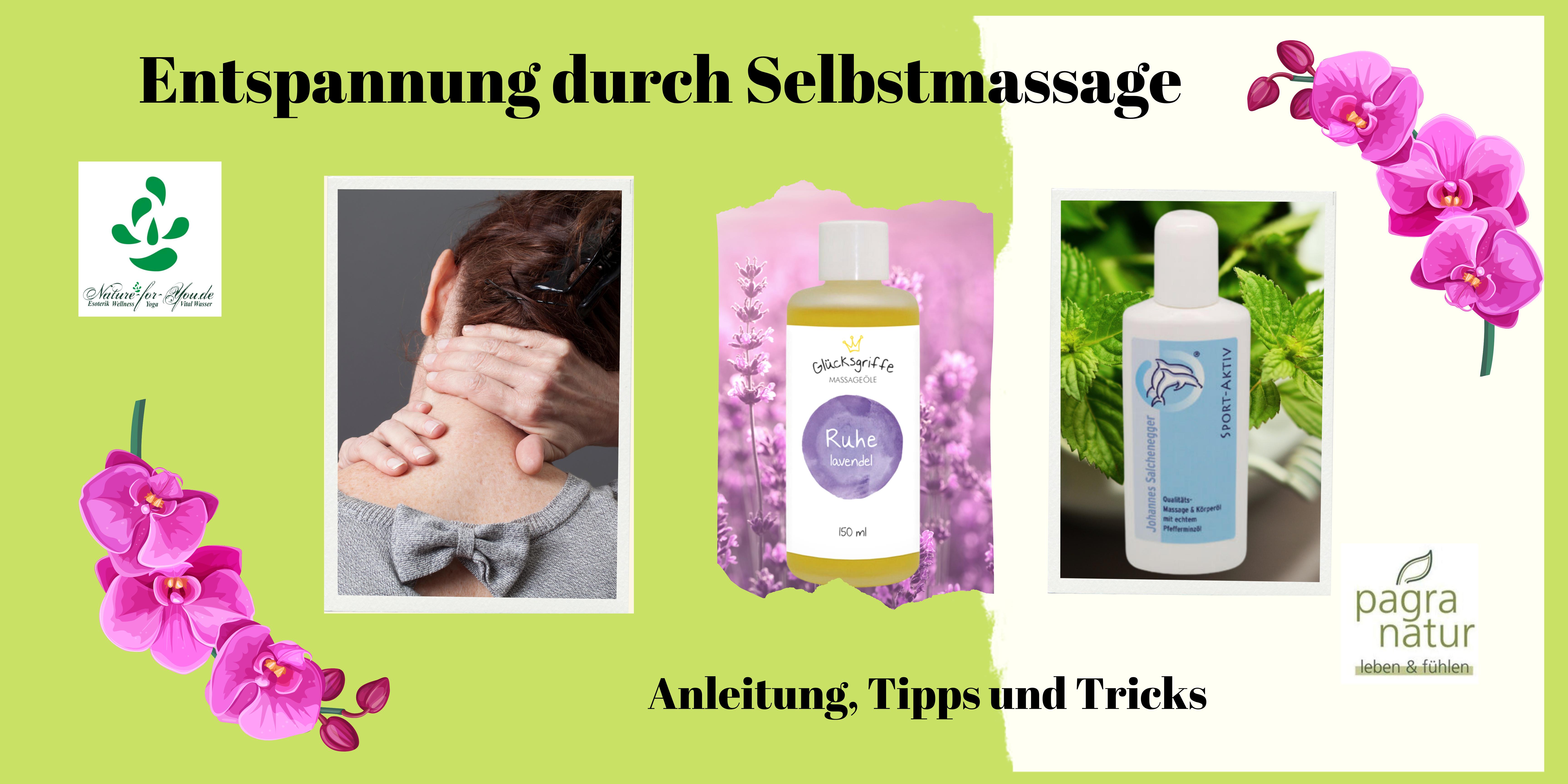 Nacken Nackenschmerzen Massage Massageöl